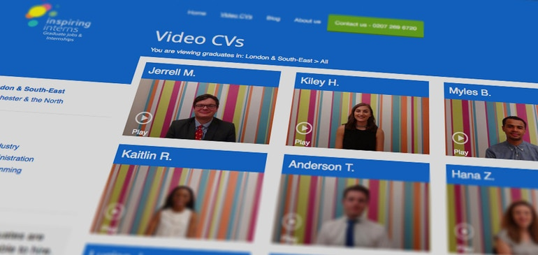 Video-Lebensläufe optimieren Einstellungsverfahren, 30 % Wachstum bei Inspiring Interns