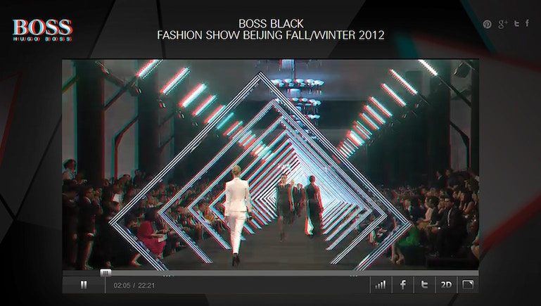 La nueva dimensión de la moda: HUGO BOSS® genera más de 70.000 visitas en directo durante el evento 3-D Video Fashion Show, retransmitido con Brightcove Video Cloud
