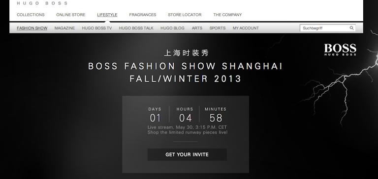 Streamen Sie sich mit uns live zur BOSS Fashion Show Herbst/ Winter 2013!