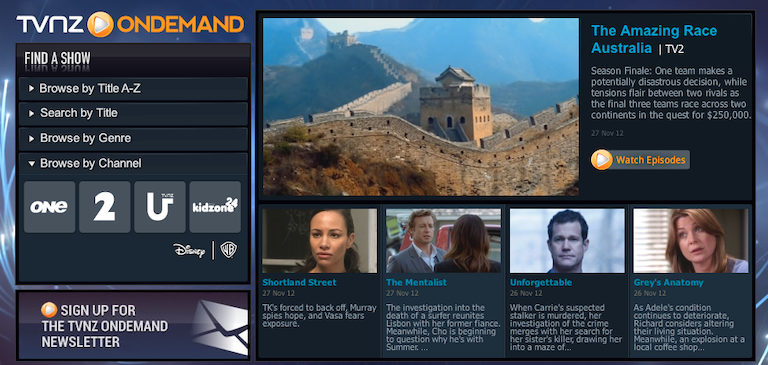 TVNZ Partners with Brightcove for New onDemand Catch-up TV App