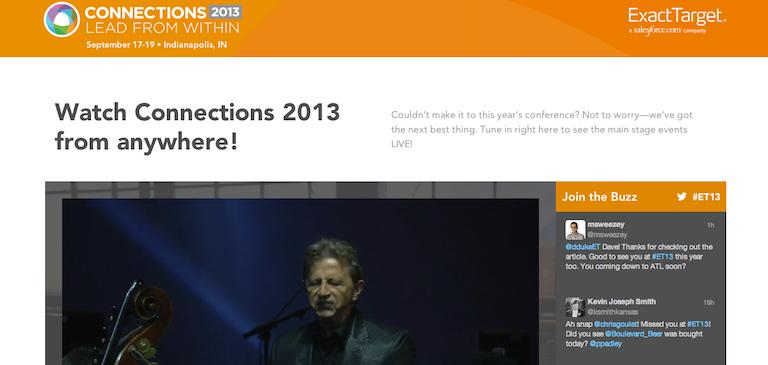 ExactTarget Connections 2013: ライブストリーミング配信の成功事例
