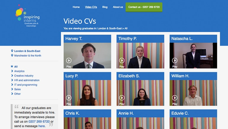 Inspiring Interns Uses Video CVs to Streamline Recruitment Processes