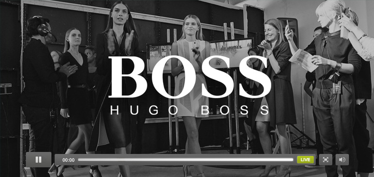 Hugo Boss 패션쇼 생중계