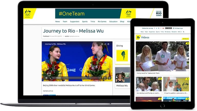 オーストラリア オリンピック委員会、 2016 年リオ五輪戦略最前線での動画配信