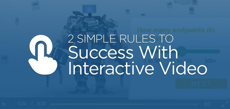 성공적인 인터랙티브 비디오 활용을 위한 2가지 법칙