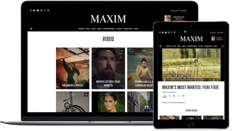 Maxim은 Xbox 앱과 브라이트코브 비디오 클라우드를 통해 멀티플랫폼 경험을 제공하고 콘텐츠에 대한 노출을 극대화하고 있습니다.