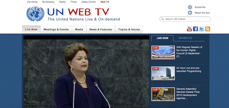 United Nations General Assembly Debate Available Live on UN Web TV