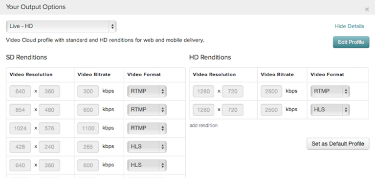 New Product Feature: Video Cloud Live Ingestion Profiles!