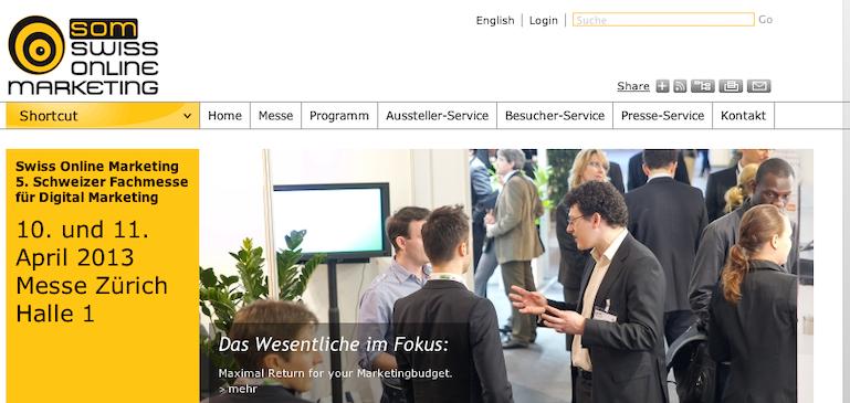 Brightcove und Zapperbusch: Livestream der Swiss Online Marketing, 5. Fachmesse für Digital Marketing