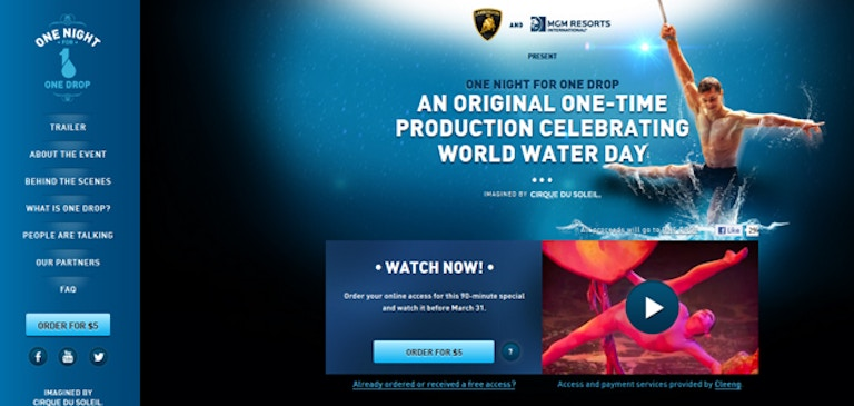 Brightcove and Cleeng Enable Le Cirque du Soleil and ONE DROP to Deliver Global On-Demand Show