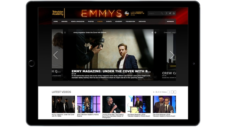 For Your Consideration: Brightcove Video Cloud Delivers Steady Stream of Content at Emmys.com Online Video Channel