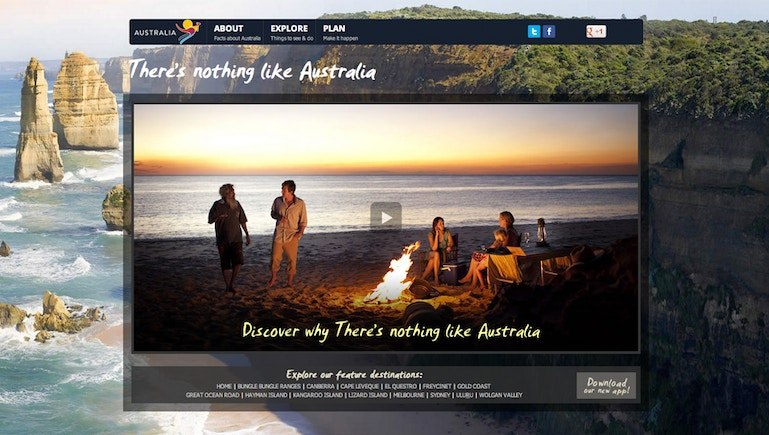 Tourism Australia Teams Up With Brightcove for 'There's nothing like Australia'
