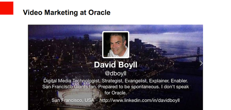 Brightcove Blog Q&A: Oracle's David Boyll on Digital Marketing and Video Strategy