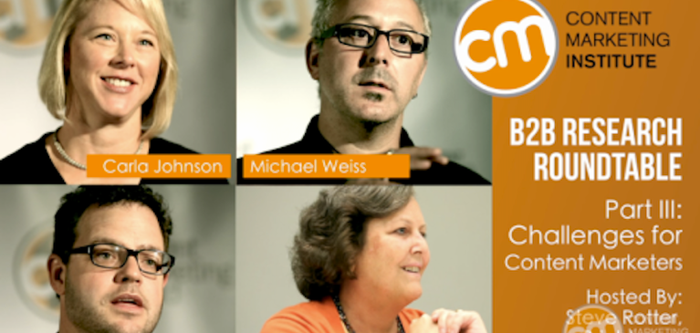Brightcove and the Content Marketing Institute: B2B Roundtable Video Series Part III