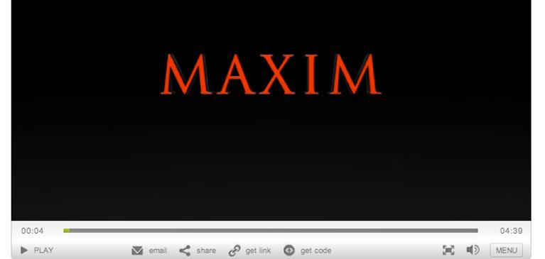 Maxim, 브라이트코브 비디오클라우드로 비디오 브랜드 강화