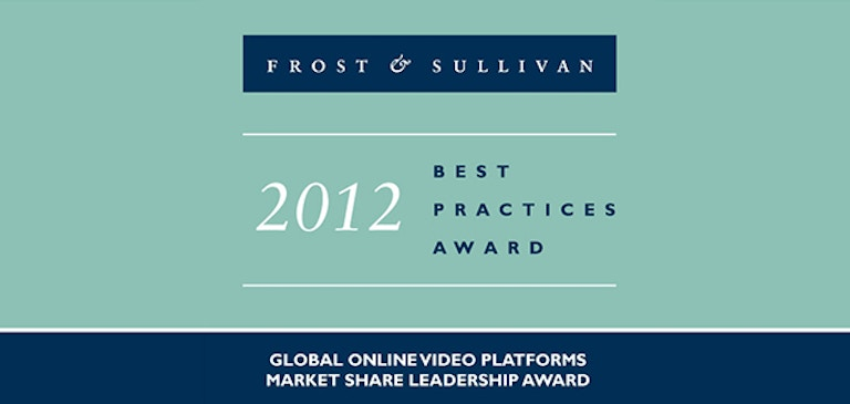 "Brightcove remporte le ""Global Market Share Leadership Award"" face à 80 plates-formes vidéo en ligne"