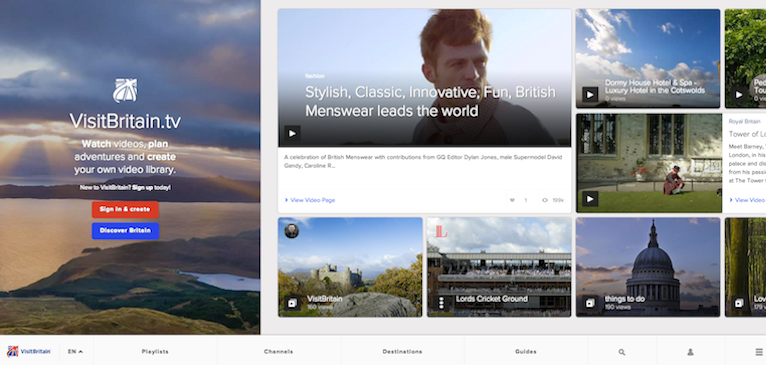 Geocast TV、Brightcove Smart Player API を活用して VisitBritain.tv をオープン